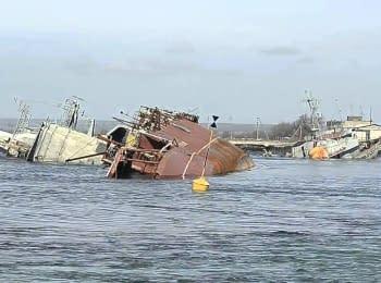 Из Севастопольской бухты и бухты Донузлав вышли 7 кораблей военно-морских сил Украины, 19.04.2014