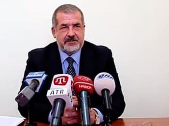 Прес-конференція глави Меджлісу кримськотатарського народу Рефата Чубарова, 22.04.2014