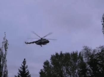 Обстрел вертолета ВСУ возле Славянска, 02.05.2014