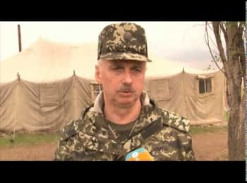 The interim Minister of Defence of Ukraine speaks about the attacked helicopters in Slovyans'k, on May 2, 2014
