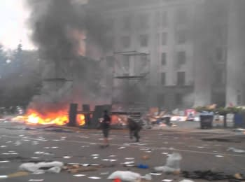 In Odesa the tent camp of the pro-Russian activists is liquidated, on May 2, 2014