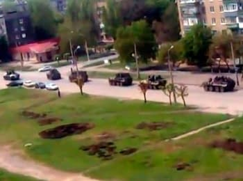 Ukrainian police forces release Kramatorsk city from terrorists, 03.05.2014