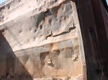 Українські військові знищили бронепоїзд екстремістів у Слов'янську, 05.05.2014