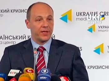 Briefing of Andriy Parubiy, Secretary of the National Security and Defense Сouncil of Ukraine, on May 8, 2014