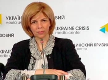 Olga Bogomolets's briefing, candidate for President of Ukraine, on May 8, 2014