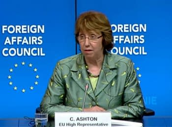 Council of the European Union - Press Conference EU High Representative for Foreign Affairs and Security Policy Catherine Ashton