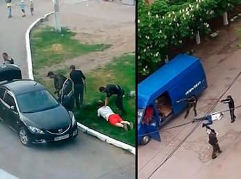 Луганськ після «референдуму» - озброєні люди вдень нападають на городян (18+ нецензурна лексика)