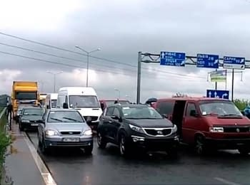 Під Рівним мешканці міста упродовж трьох годин блокували автотрасу Київ-Чоп