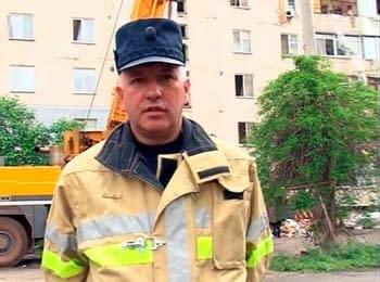 Comment of the deputy director of Department of emergency response concerning explosion in the house in Mykolaiv