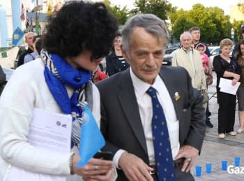 70th anniversary of deportation of Crimean Tatar was honored in Kyiv on Mykhaylivska sqr, 17.05.2014