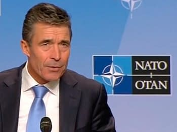 Press conference of the NATO Secretary General Anders Fog Rasmussen, on May 19, 2014
