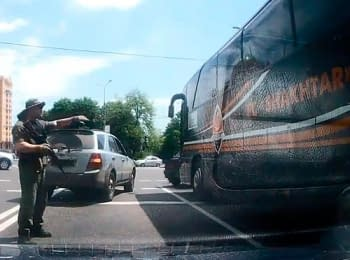 """Armed people in a camouflage attacked the club bus of """"Shakhtar"""" in Donets'k"""