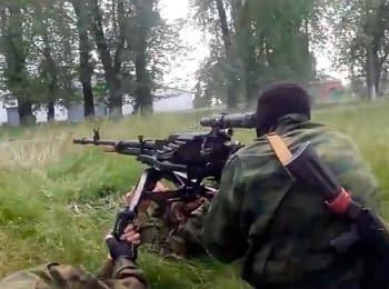 У мережі з'явилося відео обстрілу терористами блокпосту українських силовиків між Краматорськом та Слов'янськом
