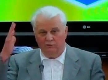 First president of Ukraine Leonid Kravchuk offered members of parliament the disband
