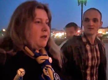 У Москві жорстко затримують за українську символіку