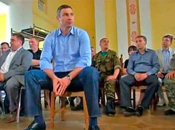 Vitali Klitschko held a meeting with activists of the Maydan