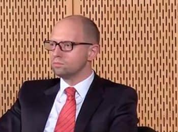 Yatsenyuk wants Putin to condemn terrorists and support Ukraine