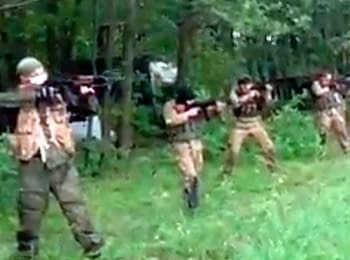 In a network has video from trainings of a terrorist battalion «Vostok»