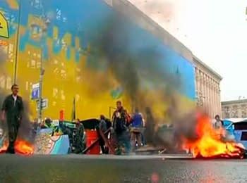 На Майдані знову горять шини, 31.05.2014