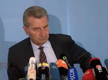 Прес-конференція за підсумками переговорів ЄС-Україна-РФ, 30.05.2014