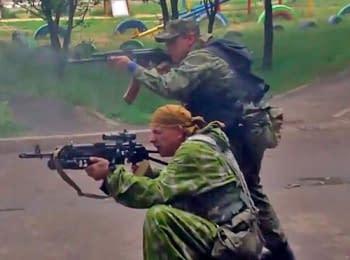 Как боевики атаковали погранотряд в Луганске, 02.06.2014