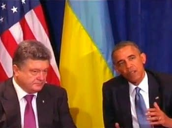 Barack Obama and Petro Poroshenko discussed a situation in the east of Ukraine