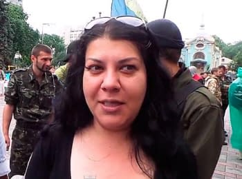 Activist Maydan of Heide Rizayeva about refugees and the governance, on June 5, 2014