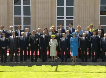Церемонія фотографування на честь 70-річчя висадки союзників у Нормандії, 06.06.2014