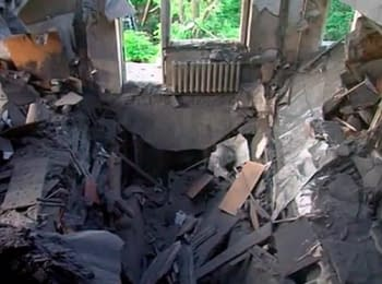 Elimination of consequences of explosion in a house in Mykolaiv, on June 9, 2014