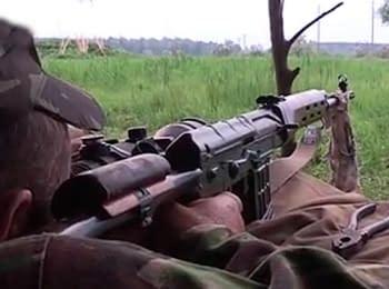 Бійці АТО випробовують нові снайперські приціли