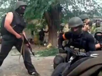 Firefight in Mariupol, on June 13, 2014