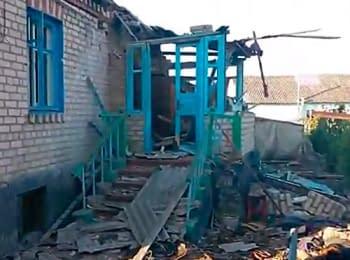 Село Макарове (Луганська область) після обстрілу, 13.06.2014
