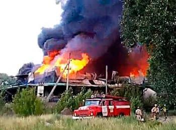 Наслідки обстрілу бойовиками овочевої бази в Добропільському районі, 13.06.2014