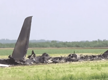Forty-nine Ukrainian troops were killed when their military IL-76 transport jet was taken down by gunmen near Luhans'k Airport, on June 14, 2014