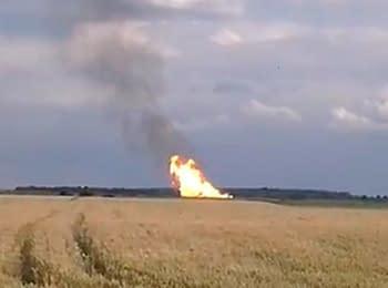 На газопроводе в Полтавской области произошел взрыв, 17.06.2014
