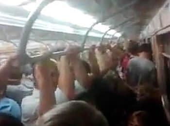 У харківському метро: сепаратист і повний вагон патріотів