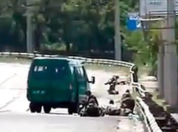 Мариуполь, 14.06.2014. Пограничники попали в засаду