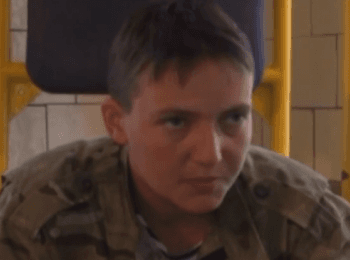 Interrogation by gunmen of the navigator-operator of the Mi-24 helicopter Nadia Savchenko, on June 20, 2014