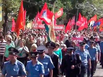 Шествие Антимайдана в Харькове, 22.06.2014
