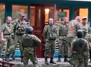 Лагерь «Правого сектора» на границе Донецкой области