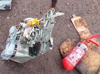 Под Славянском на месте падения вертолета, сбитого террористами, найден самописец, 25.06.2014