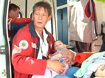 Тридцать четыре ребенка эвакуированы в Харьков из Краматорского детского дома «Антошка», 29.06.2014