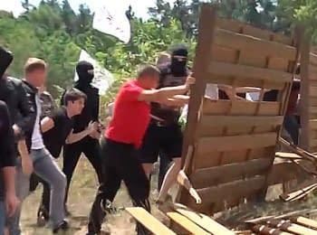 Снос незаконных заборов в Конча-Заспе