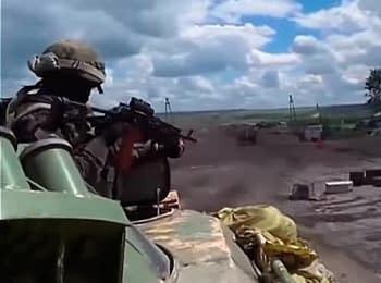 Перемирие: Колонна украинских силовиков под огнем, 29.06.2014