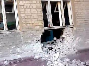 Сєвєродонецьк: Снаряд потрапив у школу-інтернат (01.07.2014)