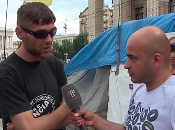 Activist Euromaydan explained why he attacked journalists of STB and the Channel 5