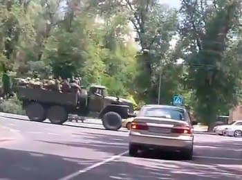 Донецк: Колонна боевиков, 06.07.2014