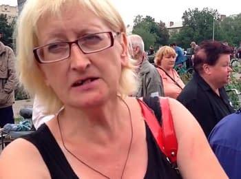 Славянск: Сепаратисты стоят в очереди за украинской «гуманитаркой» и защищают так называемую «ДНР» (06.07.2014)