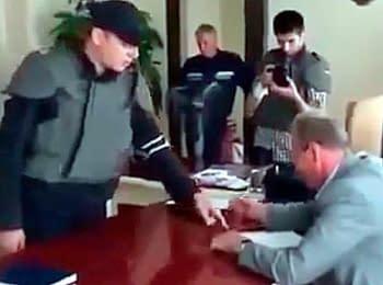 Народный депутат Олег Ляшко наводит порядок в Славянске