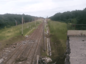 У Донецькій області підірвано ще один міст (14.07.2014)